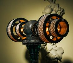 The Atlas V16 Lamp by Futility Studios is a twin-Edison bulb powered floor lamp made almost entirely from parts from vintage automobiles and motorcycles. This particular lamp uses air filters to throw a diffuse, warm light from those incandescent bulbs and would ideally suit a location in the corner of a larger room. The full list...
