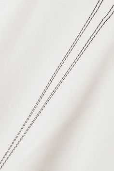 Calvin Klein Collection - Laskin Cady Wide-leg Pants - White - IT42