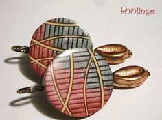 Polymer Clay Earrings by bOOlingas, via Flickr