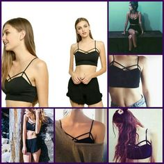 Black Cut Out Cropped Top/Bralette Sexy Black Cut Out Cropped Top/Bralette Strappy Tank Top.    I also have 1 in White. ? This is NWOT Retail. Price Firm Unless Bundled. Measurements available upon request. Tops Crop Tops