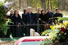 The funeral of J.R. Ewing :(