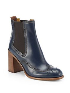 74b3447e7 See by Chloe Rickie Leather Oxford Ankle Boots from Saks Fifth Avenue -  Styhunt