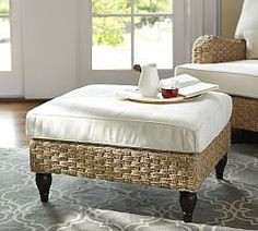 Ottomans, Storage Ottomans & Leather Ottomans | Pottery Barn