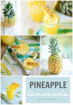 Merveilleuse Limonade à l'Ananas // Wonderful Lemonade - Place Of My Taste ❤. I'll probably use syrup instead of sugar though. Fruit Drinks, Non Alcoholic Drinks, Cocktails, Cold Drinks, Healthy Drinks, Beverages, Cocktail Recipes, Ripe Pineapple, Pineapple Lemonade