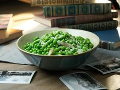 Get Parmesan Peas Recipe from Food Network
