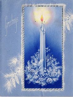 Blue Christmas Candle.............