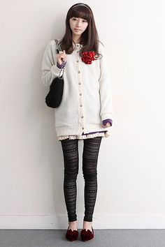 Long White Cardigan We introduce you a new modern vintage♥ hARU style will turn your ordinary days into extraordinary! www.itsmestyle.com