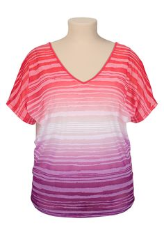 Ombre burnout bar back plus size tee