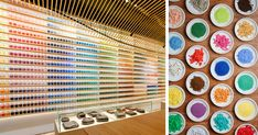 4,200 Pigments Lined Up On Japanese Paint Supply Store's Walls To Support Traditional Art Techniques | Bored Panda
