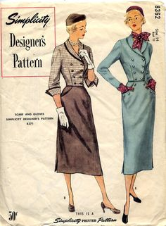 Simplicity Designer 8362: Both suits are just gorgeous. AND they tell you which pattern you need to make the gloves and scarf!