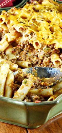 Southwestern Pasta and Chili Con Carne Casserole! This is so amazing I could eat the whole pan myself!