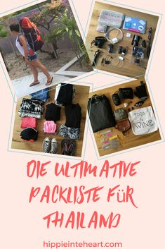 Die ultimative Packliste für Thailand- Hippie in the Heart- Pinterest