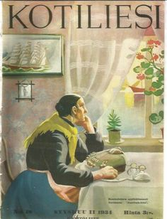 Vintage Kotiliesi cover by Martta Wendelin