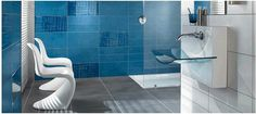 Modern Blue Transparent Washbasin by Villeroy & Boch Liaison Collection