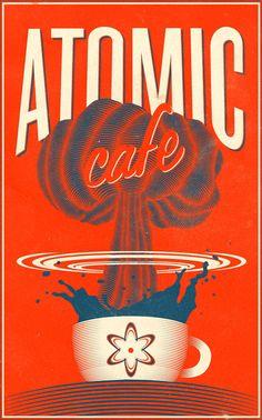 Atomic cafe Cool Poster Design Inspiration