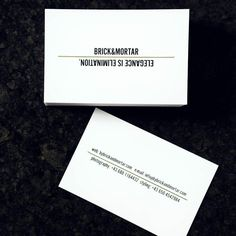 Just got our new business cards   #minimalism #moo #blackandwhite #elegance #is #elimination #balenciaga #quote #friday #bybrickandmortar