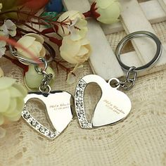 Personalized+Heart+Theme+Keyrings+(Set+of+4)+–+AUD+$+9.43
