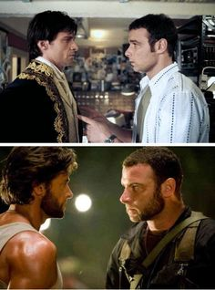 Never thought of this! I loved them in Kate and Leopold! Hugh Jackman, Hugh Michael Jackman, X Men, Laura Movie, Hugh Wolverine, New Avengers Movie, Victor Creed, Ray Donovan, Liev Schreiber