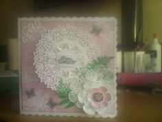 Easter card using tonic dies and tattered lace