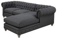 TOV Furniture Oxford Grey Linen Sofa NEW - Buy Home Improvements