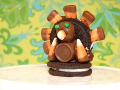 """Not exactly a """"nature craft"""" but certainly a fun activity for around Thanksgiving. Kids make these turkey cookies and listen to a story on Wed., Nov. 21."""