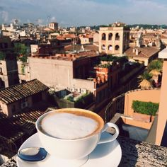 coffee with a view in Rome via Julia Engel