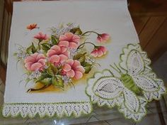 Artes em Crochê e Pintura: Pintura