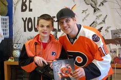 On Monday, February 13, Brayden Schenn of the Philadelphia Flyers came to Springfield High School...