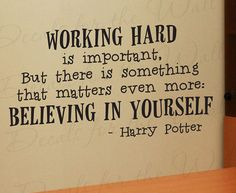 Harry Potter Working Hard Girl or Boy Room Kid School Studying Adhesive Vinyl Wall Decal Decoration Quote Lettering Decor Sticker Art G08 via Etsy