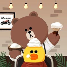 How does it look now?  #HairSalon #BROWN #SALLY #FoamingFoaming #LINEFRIENDS
