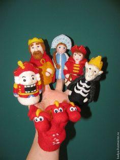 Купить Пальчиковый театр - пальчиковый театр, пальчиковые игрушки, пальчиковые куклы, сказочные персонажи, сказка