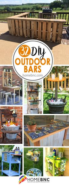 DIY Outdoor Bar Decor Ideas