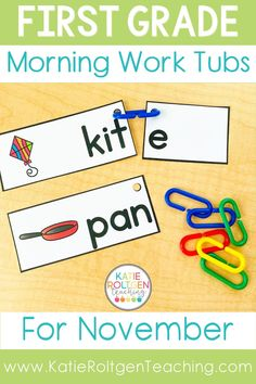 Your first grade students will be so excited to come to school to begin their day with these fun, interactive morning work tubs! With over 20 activities to choose from, my students can practice math, literacy, fine motor development, social skills, and more. First grade morning work tubs are also a wonderful way to introduce, review, and remediate different content areas and skills in your primary classroom.
