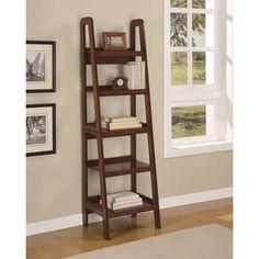 Ameriwood Home Platform Mahogany Ladder Bookcase