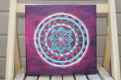 Original Henna Mehndi Inspired Acrylic Art by DannaLivingston, $50.00