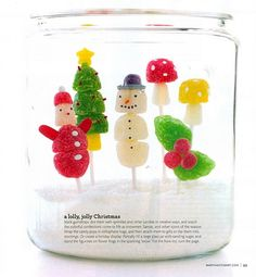 Gum Drop Winter Snow Globe
