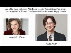 """Two of my favourites in one interview!  Unconditional Parenting, with Alfie Kohn and host Dr Laura Markham, of Aha Parenting! """"If they come to see our reaction as the point. . . they come to see the action as a means to an end. . . our approval."""" (rather than learning to enjoy reading/ helping others/ etc intrinsically)"""