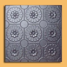"""Odessa Silver (20""""x20"""" Foam) Ceiling Tile by Antique Ceilings. $3.00. Can be painted with most any water or latex based paints. Can be installed right over Pop Corn ceiling. Tin like look from a modern material. Easy to install - with most any Mastic ceramic tile adhesive. Made from high quality Polystyrene foam. The ceiling tiles and panels are made of uniform extruded polystyrene foam. With this technology, it is possible to obtain smooth and even surface. They will give your c..."""