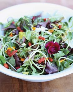 Spring Salad with Ginger Dressing Recipe - Food and Recipes - Mother Earth Living