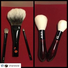 #Repost @chanewie with @repostapp. Let's face it. These two incomplete sets represent my greatest most expensive brush purchases of 2015/ever. And if I want to be 100% honest the #kihitsu WCS L face brush is my most favorite brush purchase ever! Def my new number 1 favorite brush (Sturdy huge fluffy yet efficient big mama). #AllHailTheQueen. Now if I had to pick my second most favorite brush ever it would be the #koyomo black Hana cheek brush. I actually prefer it for powdering than the…