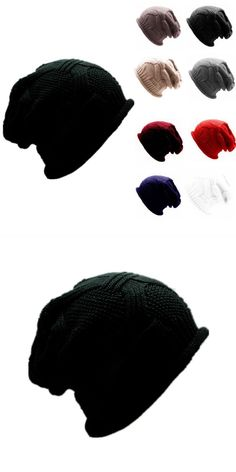 5e90bda7887 Men women baggy warm crochet winter wool knit ski beanie skull slouchy caps  hat women s knitted