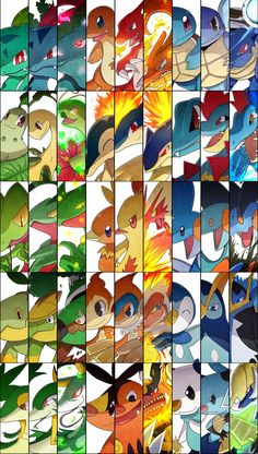 Starter Pokemon Generations