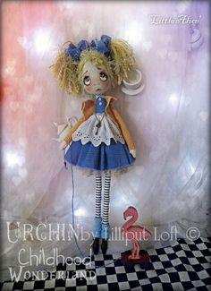OOAK Art Doll Urchin Little Alice by lilliputloft on Etsy