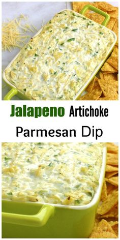 Jalapeno Artichoke Parmesan Dip || For the Love of Gourmet