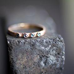 Rosecut diamond band by tesiaalexandra on Etsy, $275.00