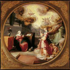 Mander, Karel van - Провозглашение, 1593, диаметр 39 cm, Дерево, масло Музей Франса Халса в Харлеме Dutch Golden Age, Dutch Painters, Poet, Baroque, Printmaking, Painting, Shop Signs, Painting Art, Printing