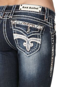 Rock Revival Jeans Women's Posey B13 Boot Cut Dark Wash RJ84158B13 ...
