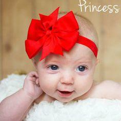 Baby Bow Headband Red