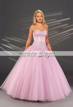 Hot Pink Princess Ball Gown Dresses