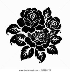 Vintage Floral Highly Detailed Hand Drawn Rose Flower Stem With Roses And Leaves. Victorian Motif, Tattoo Design Element. Bouquet Concept Art. Isolated Vector Illustration In Line Art Style. - 282101528 : Shutterstock